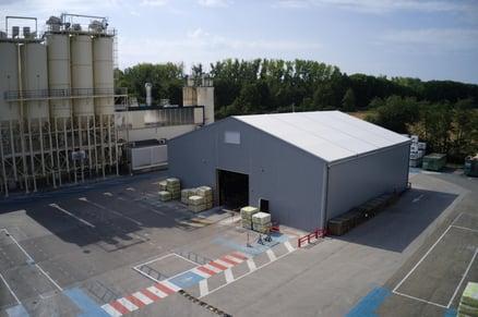 bâtiment démontable pour les industriels de l'énergie
