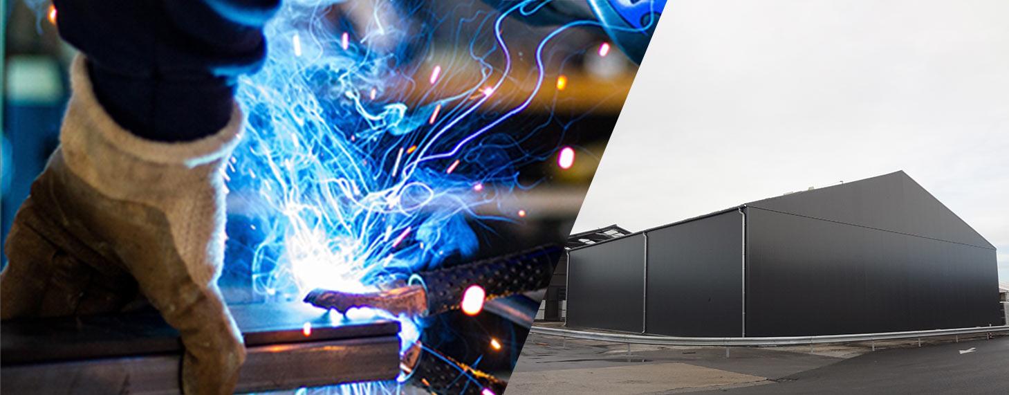 structure modulaire pour l'industrie lourde